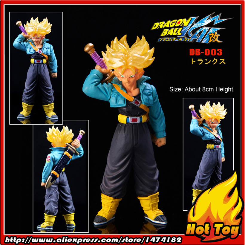 100% Original BANDAI Gashapon PVC Toy Figure DG Part 1 - Trunks Super Saiyan from Japan Anime Dragon Ball Z (8cm tall) sailor moon capsule communication instrument machine accessory gashapon figure anime toy full set 100