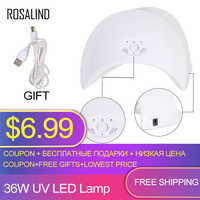 ROSALIND 36W Nail Dryer UV LED Lamp Nail Polish Dryers Double Power lamp Fast Cured for Machine Manicure With USB Nail Art Tools
