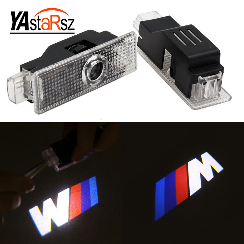2x Car LED Door Welcome Light For BMW E90 E60 F30 F10 F15 E63 E64 E65 E86 E89 E85 E91 E92 E93 F02 M5 E61 F01 M Performance Logo car led door logo projector ghost shadow light for bmw 3 5 6 7 m3 m5 e60 e90 f10 e63 f30 e64 e65 e86 e92 e85 e93 e61 f01 f02 gt