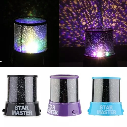 Sky Star 4 LED Colorful Night Light Projector Lamp Gift/xj led projector lamp colorful star master sky starry moon night light cosmos master for children gift led projection lamp