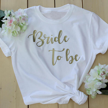 Bride to be bride squad t-shirt romantic gift for her women fashion cotton