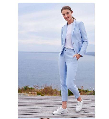 2 Printemps 2018 Pantalon Travaillent amp; Office Points Costumes Pièce Costume 9 Lady Femmes Tenues Ensembles Blazer Bleu Nouveau n8q0wvZTUx