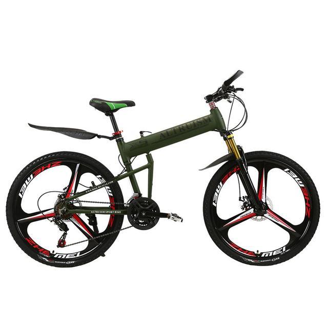 Альтруизм X5 pro алюминия складной горный велосипед 21 Скорость Велосипеды подвеска Вилка торможения велосипедов 26 дюймов MTB шоссейные Велосипеды