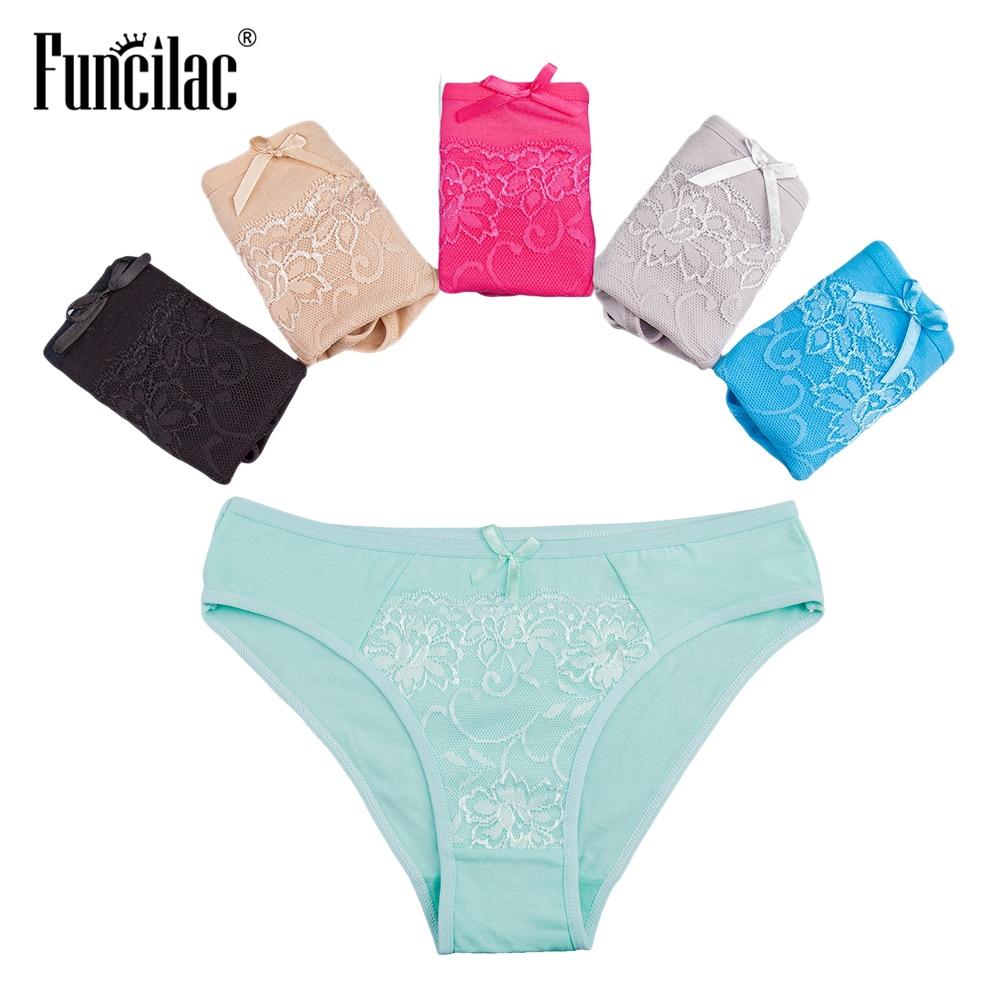 Felsonac bragas para las mujeres Sexy Lace ropa interior de las mujeres  calzoncillos de algodón sólido 1bc12ca86772