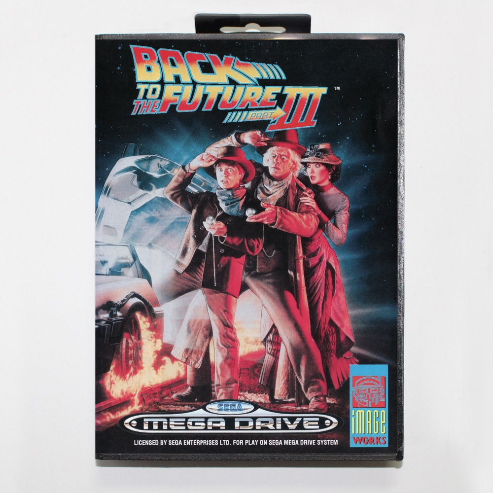 16 bit Sega MD game Cartridge with Retail box - Back to the Future Part III game card for Megadrive Genesis system