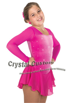 Custom  Figure Ice Skating Dresses Adult With Spandex Graceful New Brand Figure Skating Competition Dress DR2609