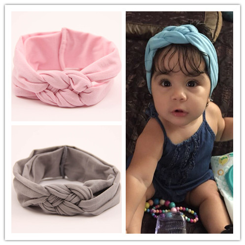 hair accessories headband elastic hair band hairband headbands head band girls kids dot braided top knot twisted turbante wrap