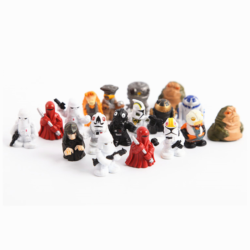 Star Wars Mini PVC Action Figures Collectible Model Toys 18pcs/set серьги коюз топаз серьги т242025495