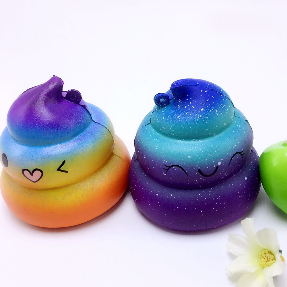 Simulation Shit Colorful poo Slow Rising Anti Stress PU Toys Gift For Children Squeeze Toys Antistress Squishy