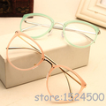 New Round Glasses Frame Vintage Women Optical Glasses Myopia Eyewear Metal Oculos De Grau Green Red Pink Eyeglasses Gafas