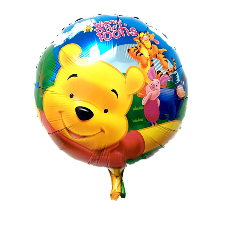 10pcs 18inch winnie the pooh cartoon foil balloon for for Balloon decoration for kids party