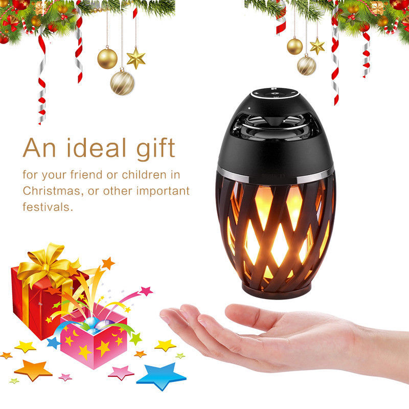 Christmas Classy Luminous Campfire Light Bluetooth Speaker With Flame LED Lamp