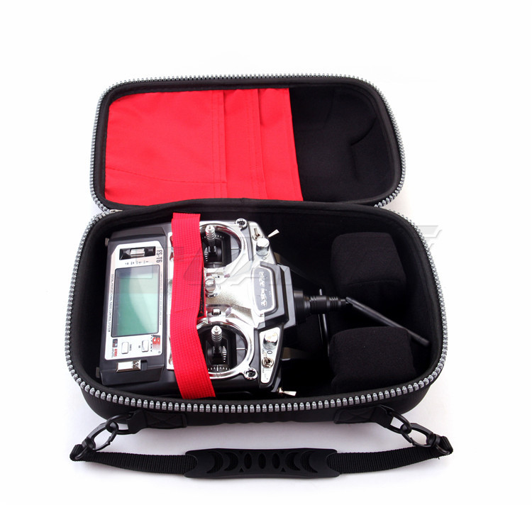 Freeshipping Flysky FS-T6 2.4GHz 6Channel Transmitter Radio Mode 2 For RC Heli + Bag Case niorfnio portable 0 6w fm transmitter mp3 broadcast radio transmitter for car meeting tour guide y4409b