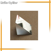 1PC 25x25x25mm K9 Optical Glass Right Angle Slope Reflecting Prism Coating With Silver Plated