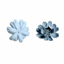 100pcs/lot 2 Colors 3 Layers Small Artificial Flower with Pistil in Central Infant Hair Accessories For Headband Kidocheese