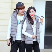 Brieuces new 2017 solid plus size stand collar short vest winter jacket women fashion keep warm zipper waistcoat