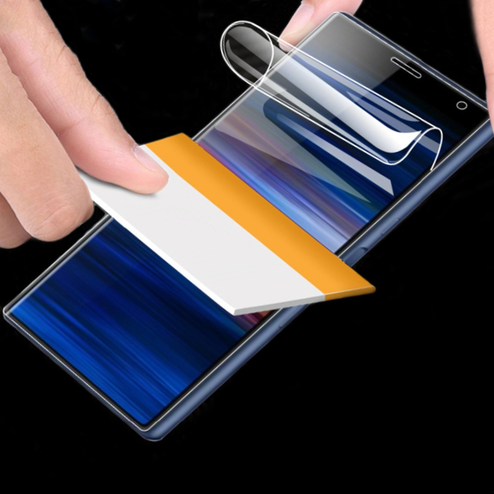 3D Protective Hydrogel For Sony Xperia 10 Plus XZ XZS XZ1 XZ2 XZ3 XZ4 Compact Premium Screen Protector Full Cover Film Not Glass(China)