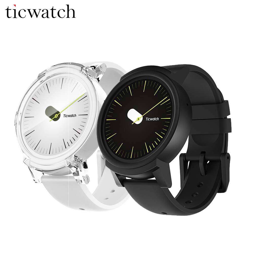 Original Ticwatch E Smart Watch Android Wear 2.0 MT2601 Dual Core GPS Smartwatch IP67 Water Resistant with Mic/Speaker Silicon