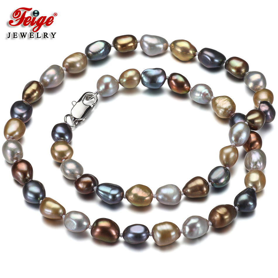 Pearl Necklace Styles: Aliexpress.com : Buy Feige Special Offer Baroque Style 7