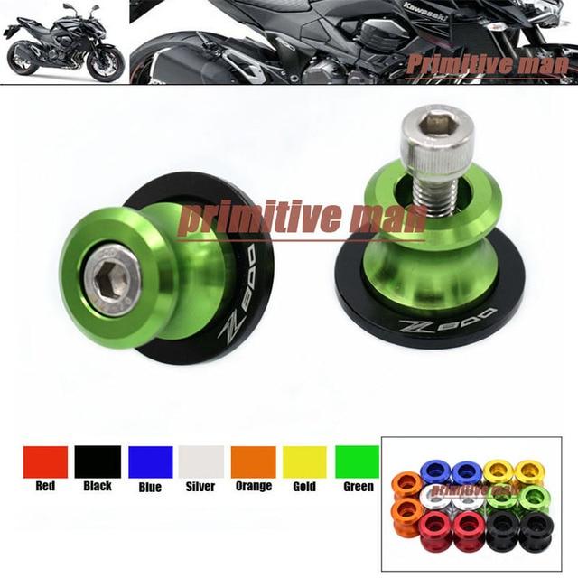 Para kawasaki z800 z 800 2013-2015 accesorios de la motocicleta basculante carretes deslizante 8mm tornillos del soporte logotipo z800 verde