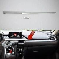 For Mazda 6 Mazda6 M6 Atenza 2017 Car Interior Central Console Dashboard Cover Strip Cover Trim ABS Chrome 2PCS