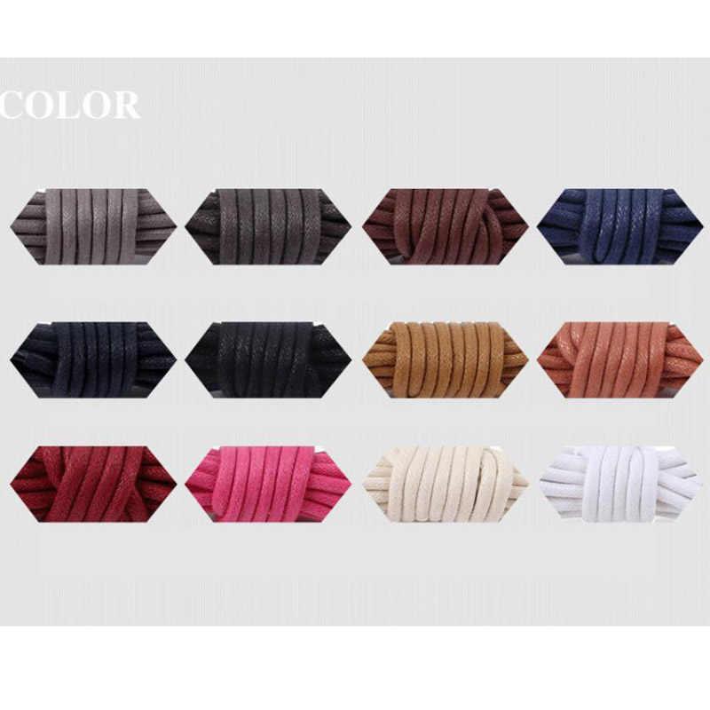 1 Par высокое качество шнурки непромокаемые кожаные туфли на шнуровке круглый форма Тонкая Веревка белый черный цвета синий фиолетовый коричневый шнурки