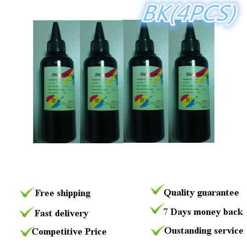 Dyebased refill ink HP BK for hp printer top quality Only black