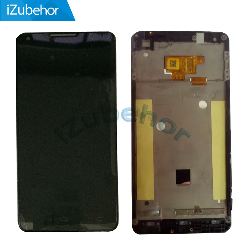 FOR Philips Xenium W6618 W6610 LCD Screen Display With Touch Screen Digitizer Glass + Frame assembly without flashing firmware