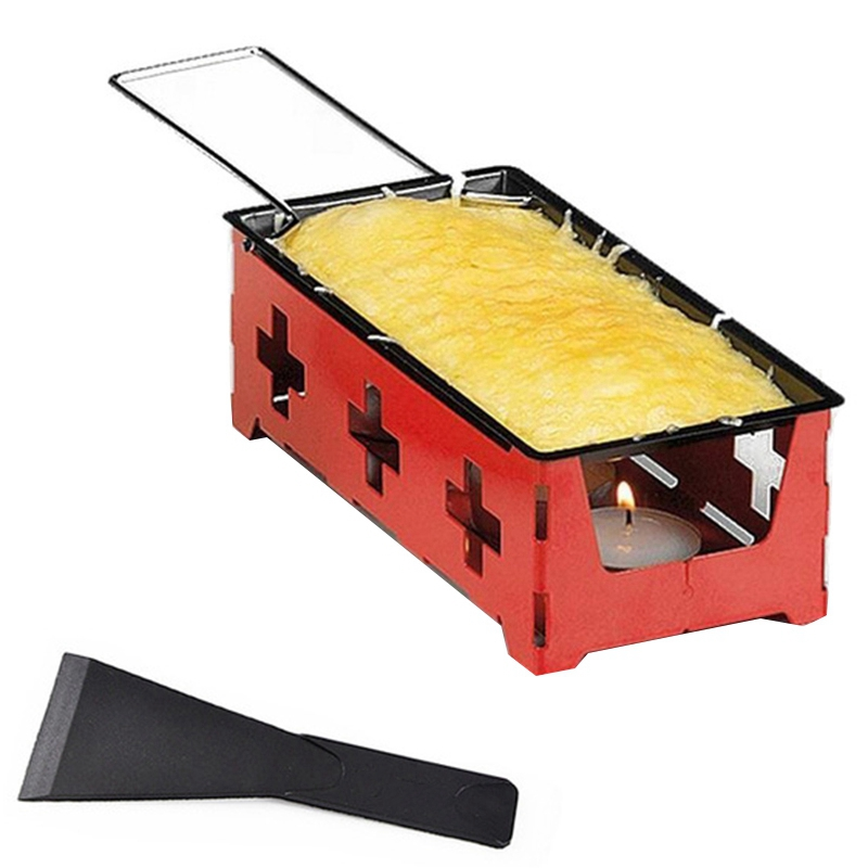 Practical Cheese Roasters Cheese Grill Non-Stick Baking Tray Butter Cheese Barbecue Dish Household Bbq Baking Tools(Steel Hand