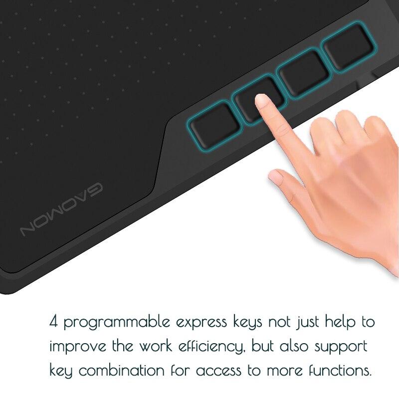 Image 4 - GAOMON S620 6,5x4 дюймов 8192 уровень безбатарейная Ручка  Поддержка Android Windows Mac OS система цифровой графический планшет  для рисования электронная доска для записей и osu планшет-in Цифровой  планшеты from Компьютеры и офисная техника on AliExpress