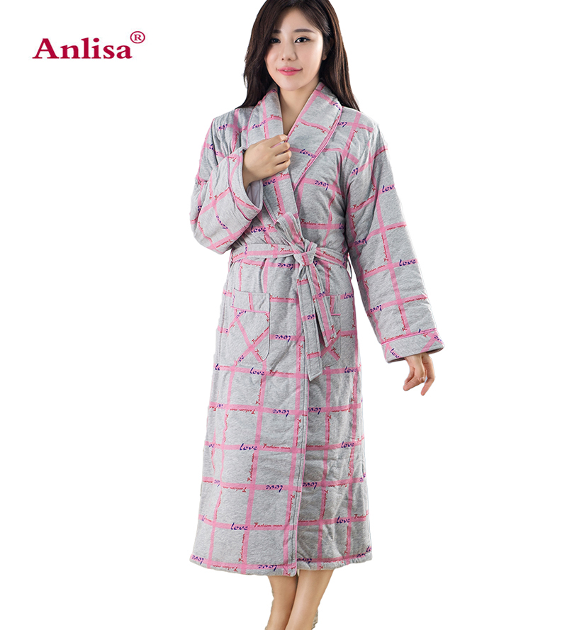 Anlisa Brand Clothes high quality womens pyjamas brand robe femme winter Thickening warm sexy pajamas home wear bathrobe