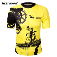 Bike Short Sleeve Team Women Men Yellow Spandex Cycling Jersey Tops Short Sleeve Bike Clothing Summer