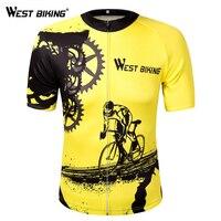 WESTขี่จักรยานจักรยานแขนสั้นทีมผู้หญิง/ผู้ชาย