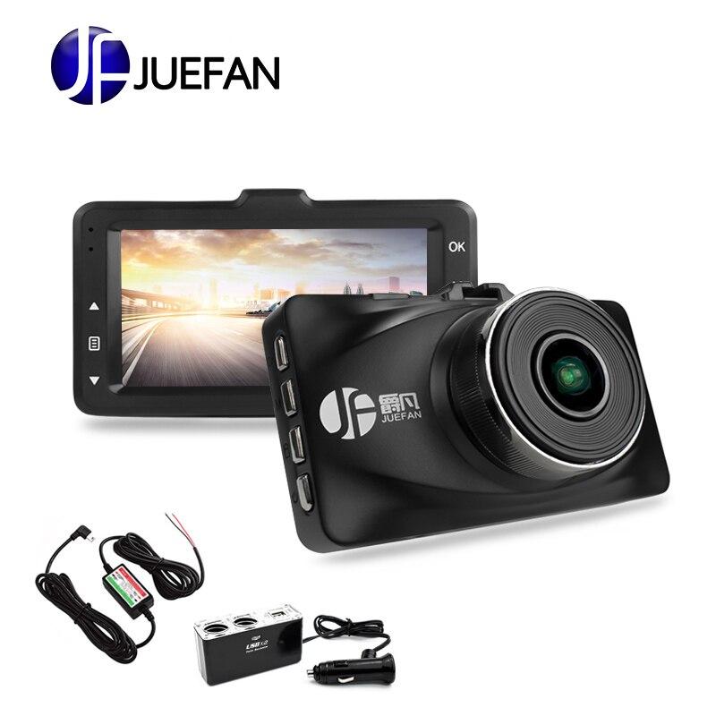 JUEFAN haute qualité voiture dvr caméra Novatek 96655 dash cam full hd 1080 p auto caméra 3.0 pouces Parking surveillance dashcam