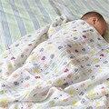 Macio Cópia Floral Do Bebê Panos de Musselina Cobertor Swaddle Algodão Bebê Recém-nascido Toalha 120x120 cm
