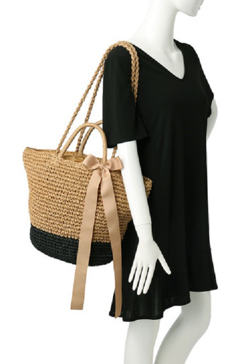 Women's Bags 44cm Straw Bag Tourism Holiday Beach Bag Shoulder Bag A2895 Good Heat Preservation