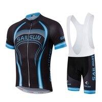 HOT SAIL SUN Men MTB Cycling Clothing Bike Jersey Top Or Bike Bib Shorts Black Red