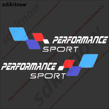 цена на 2pcs Car Body Windows Sports Performance Sticker Decal Styling For BMW M3 M5 X1 X3 X5 X6 E36 E39 E46 E30 E60 E92 f34 f10 f20