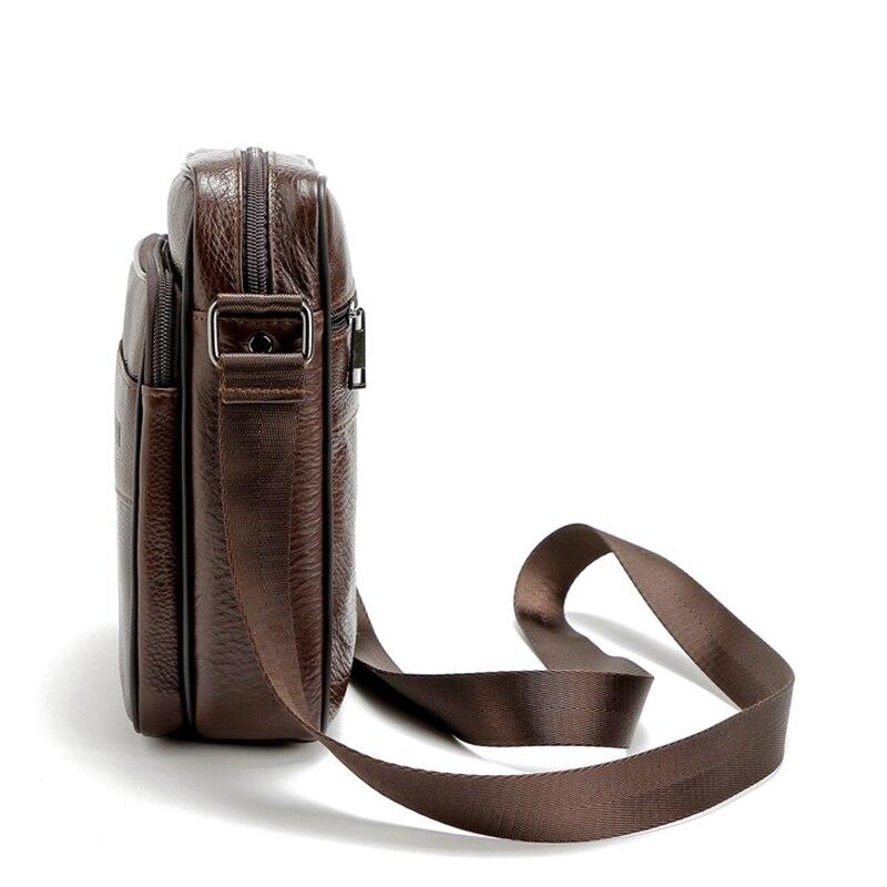 atravessadas couro do couro genuíno Color : Brown