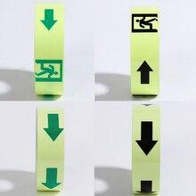5cm X10m  Glow Tape Self-adhesive Sticker Removable Luminous Fluorescent Glowing Dark Striking Warning