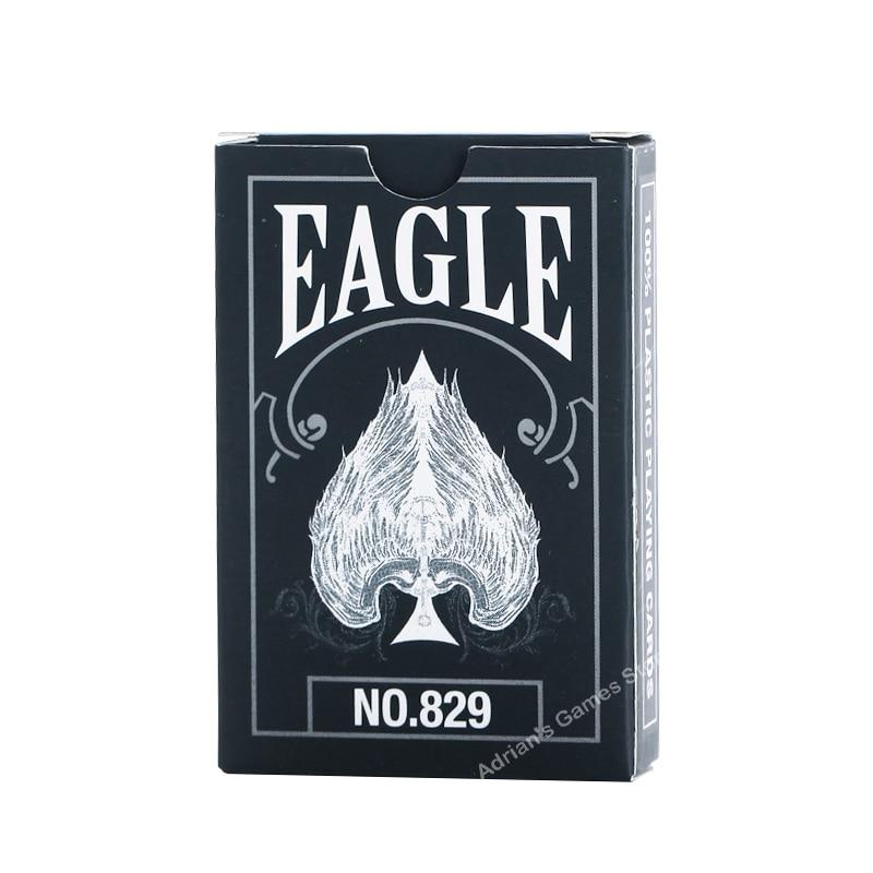 Волшебный Орел ПВХ игральные карты черные пластиковые покерные карты палуба казино водонепроницаемый 58*88 мм