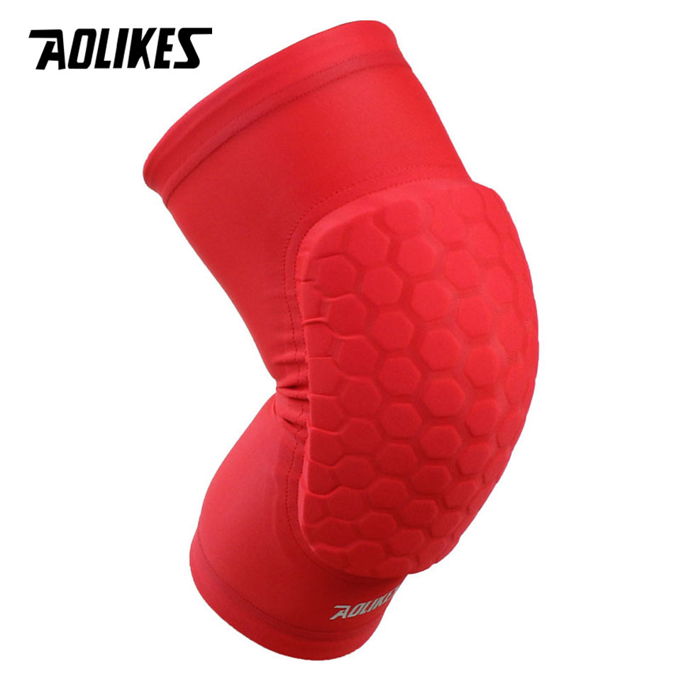 5634f282a4 AOLIKES 1PCS Hex Sponge Protective Knee Pads Basketball Leg Sleeves  Compression Knee Braces Kneepads Sports Safety-in Elbow & Knee Pads from  Sports ...
