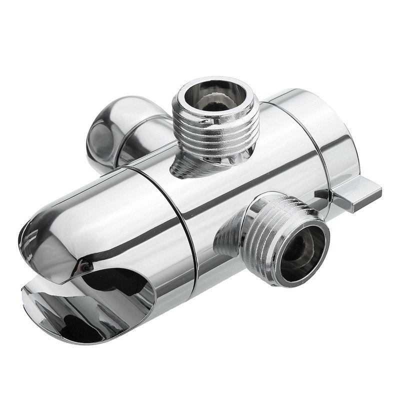 3 way shower head holder water saving diverter combo polished chrome wall mounted shower valve fix