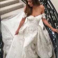 kejiadian Mermaid Wedding Dresses Detachable Train
