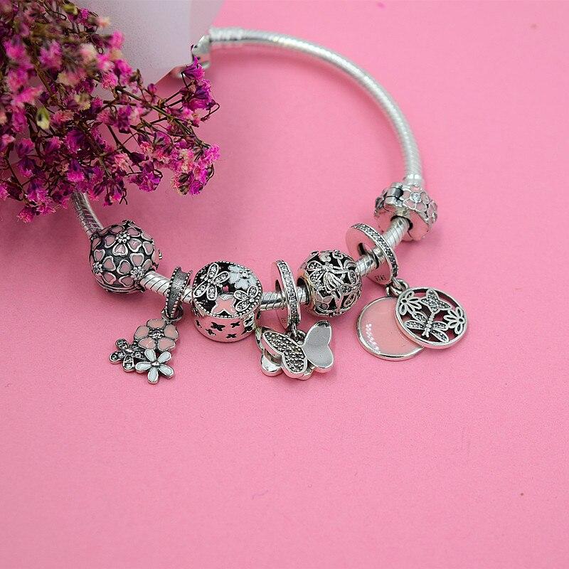 YANXIZAO caliente 925 de plata Europea Charm Beads Fit Pandora Estilo - Bisutería - foto 2