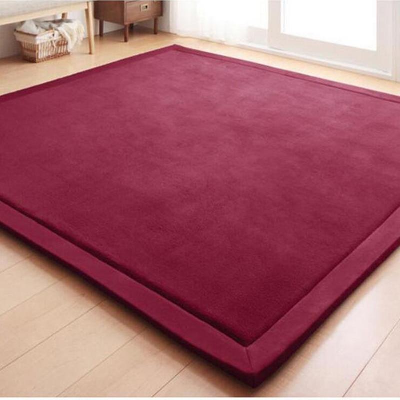 Tapis de jeu épais pour enfants tapis en velours polaire de corail pour décorer les tapis de chambre à coucher pour tapis de salon