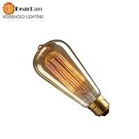 ST58 E27 40W 220V Filament Tungsten Bulb 1900 Antique Vintage World Edison Light Bulb Antique Edison