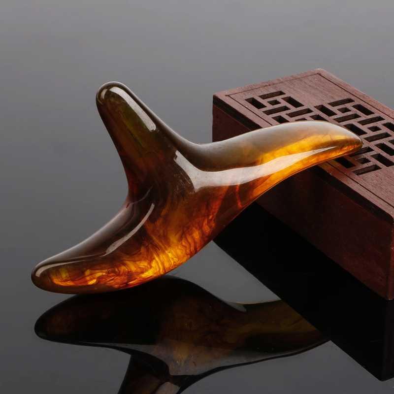 العنبر الراتنج الشمع مثلث قدم القدم مدلك غوا شا الوخز بالإبر شياتسو أداة