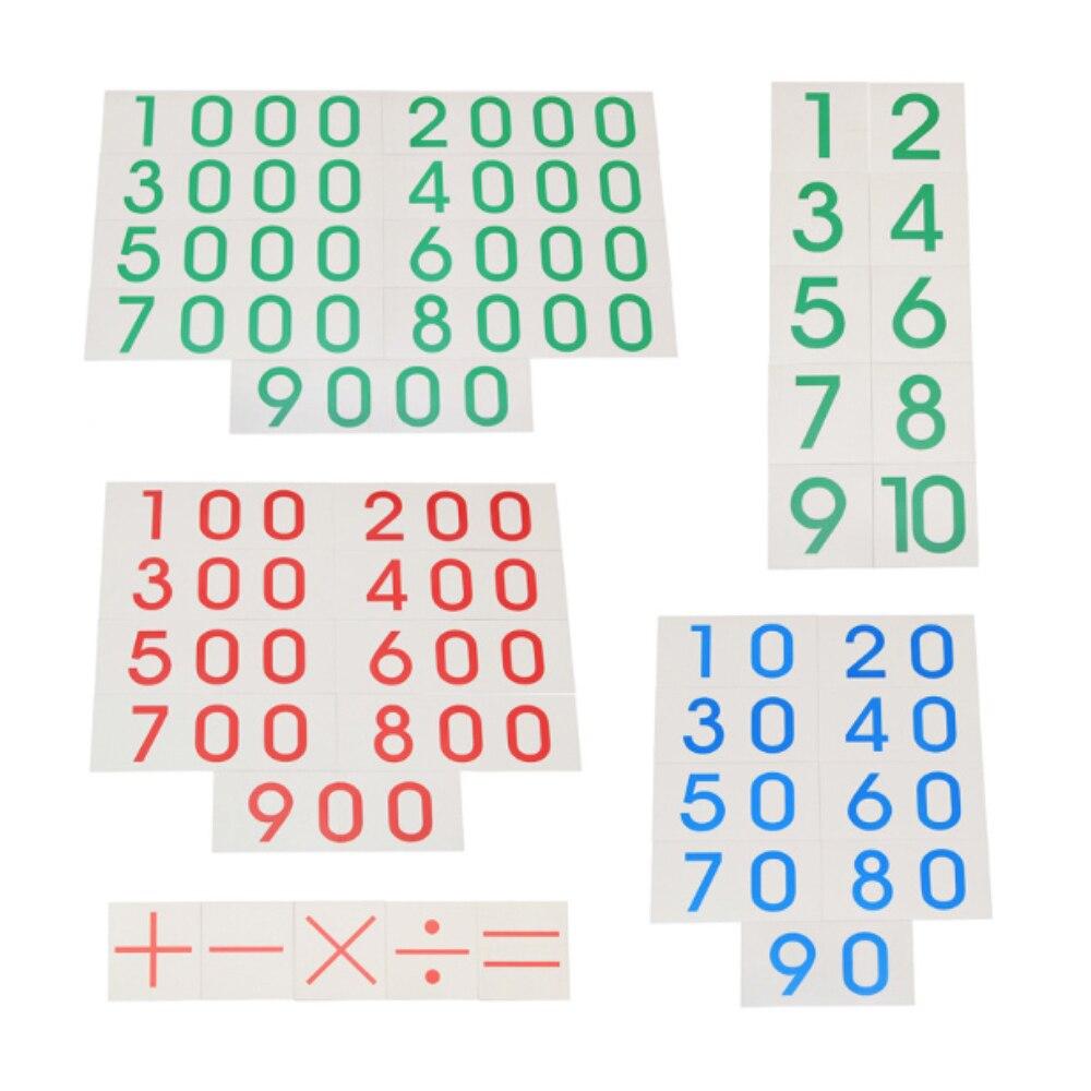 Enjoybay boîte en bois décimale Montessori jeu nombre comptage décimal enseignement jouet début d'apprentissage éducatif mathématiques jouet pour les enfants - 2