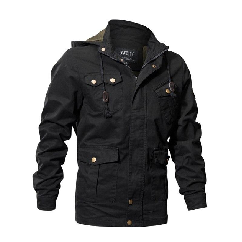 Осенне-зимняя куртка-бомбер для мужчин, большие размеры, армейские военные тактические куртки, Мужская ветровка, пальто с капюшоном, пальто ...